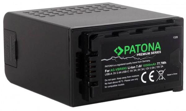Patona Premium Ersatz für Akku Panasonic AG-VBR89G + Ladegerät