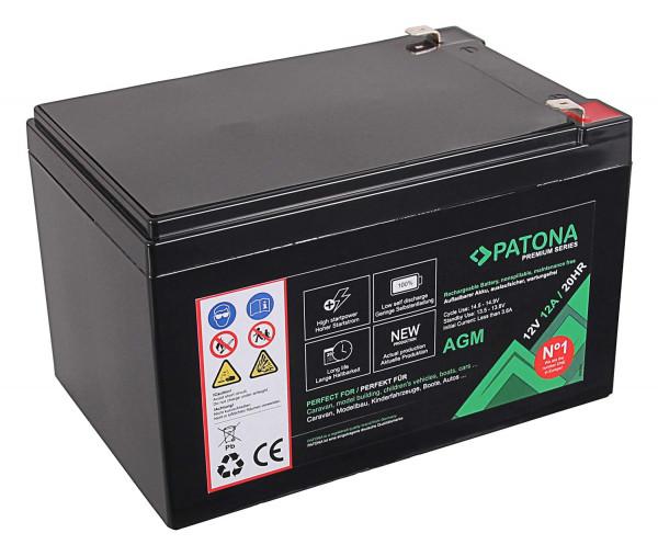 Patona Premium AGM 12V 12Ah Blei Batterie