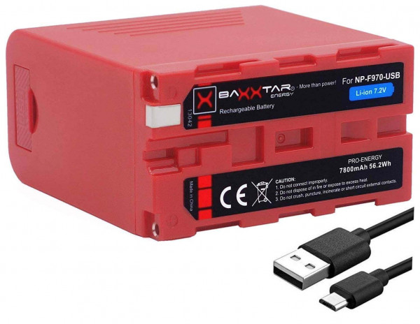 Baxxtar Pro Energy - Ersatz für Akku Sony NP-F970 USB