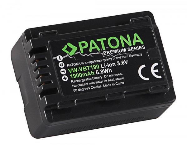 Patona Premium Ersatz für Akku Panasonic VW-VBT190