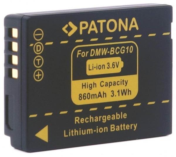Patona Ersatz für Akku Panasonic DMW-BCG10