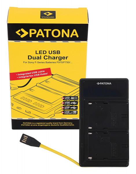 Patona LED Dual Ladegerät NP-F Serie