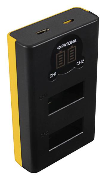 Patona USB Dualladegerät für Akku GoPro Max