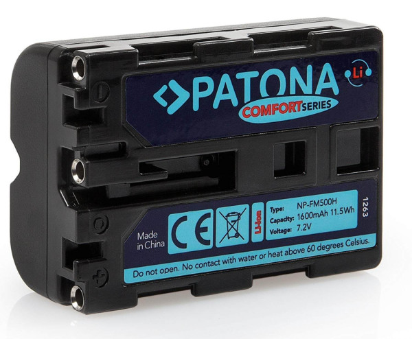 Patona Comfort Ersatz für Akku Sony NP-FM500H