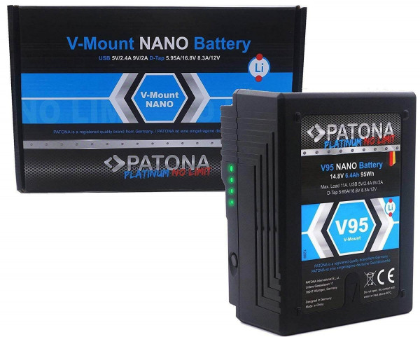 Patona V-Mount Akku - V95 Nano