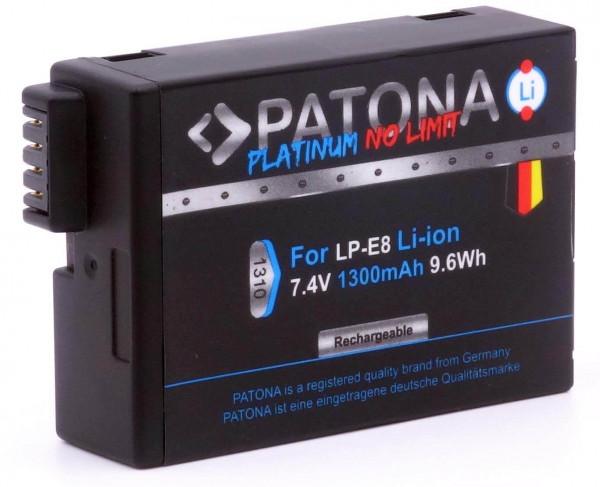 Patona Platinum Ersatz für Akku Canon LP-E8