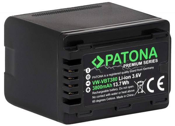 Patona Premium Ersatz für Akku Panasonic VW-VBT380