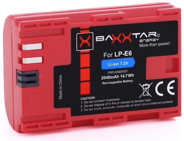 Baxxtar Ersatz für Akku Canon LP-E6