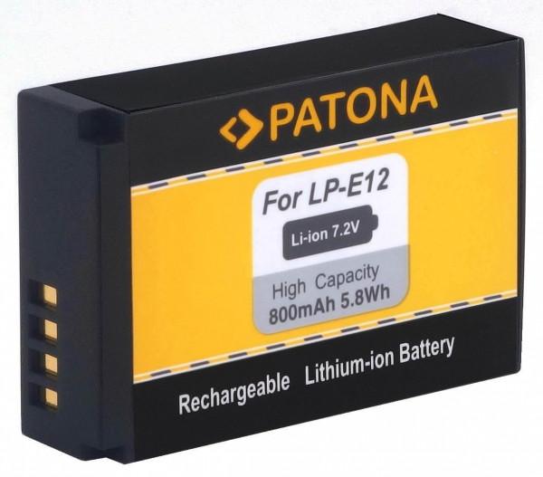Patona Ersatz für Akku Canon LP-E12