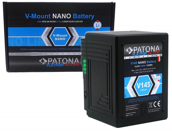 Patona V-Mount Akku - V145 Nano