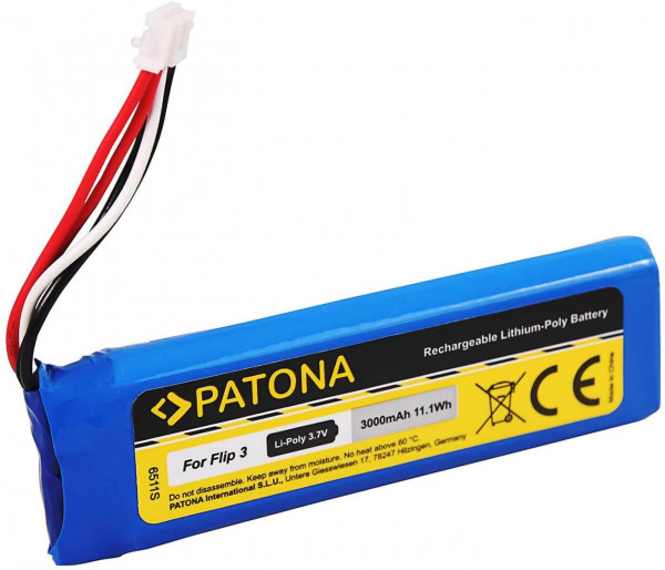 Patona Ersatz für Akku JBL GSP872693 (3000mAh) - kompatibel mit JBL Flip 3