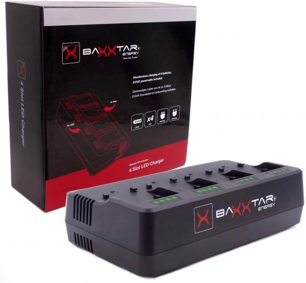 Baxxtar 4 Kanal Ladegerät für Sony BP-U Akkus