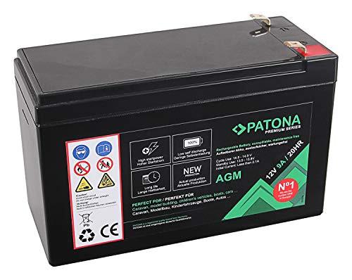 Patona Premium AGM 12V 9Ah Blei Batterie