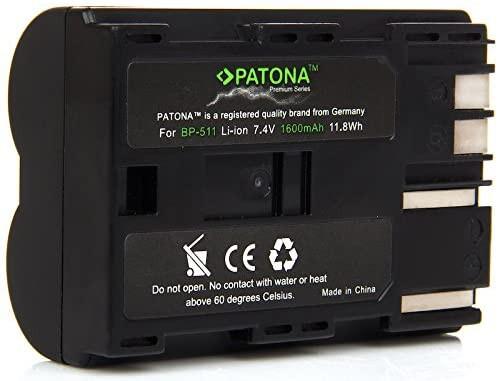 Patona Premium Ersatz für Akku Canon BP-511