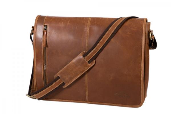 Alpenleder Messenger Bag Atlanta cognac