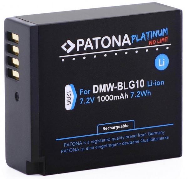 Patona Platinum Ersatz für Akku Panasonic DMW-BLG10 / Leica Akku BP-DC 15