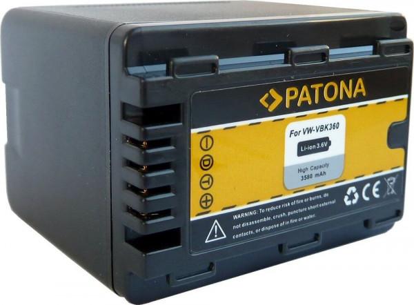 Patona Ersatz für Akku Panasonic VW-VBK360EK