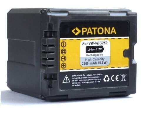 Patona Ersatz für Akku Panasonic VW-VBG260EK