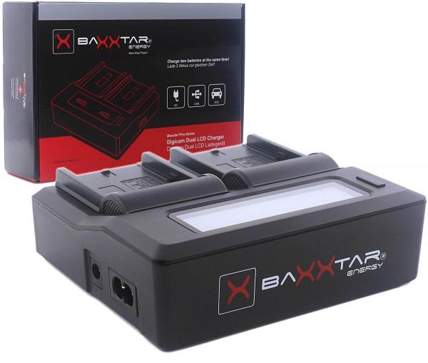 Baxxtar Dual LCD Ladegerät für Akku Sony NP-F Serie