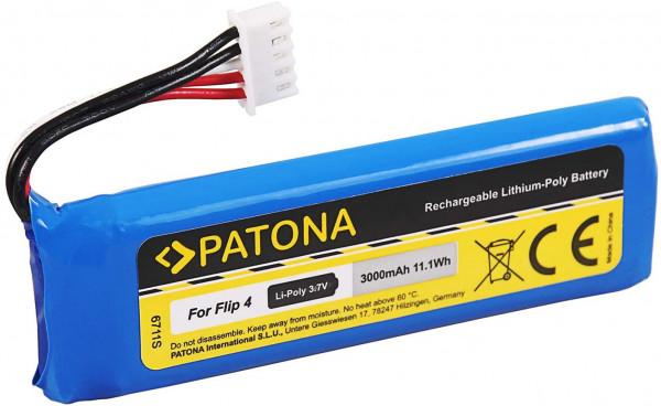 Patona Ersatz für Akku JBL GSP872693 01 (3000mAh) für JBL Flip 4