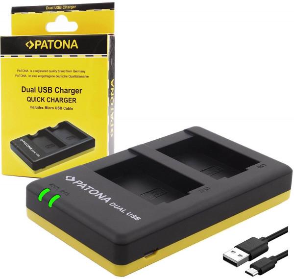Patona USB Dual Ladegerät für Akku Panasonic DMW-BLC12