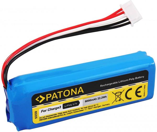 Patona Ersatz für Akku JBL GSP1029102A (6000mAh) für mit JBL Charge 3