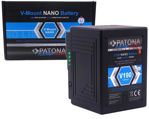 Patona V-Mount Akku - V190 Nano