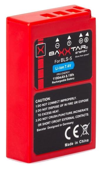 Baxxtar Ersatz für Akku Olympus BLS-5