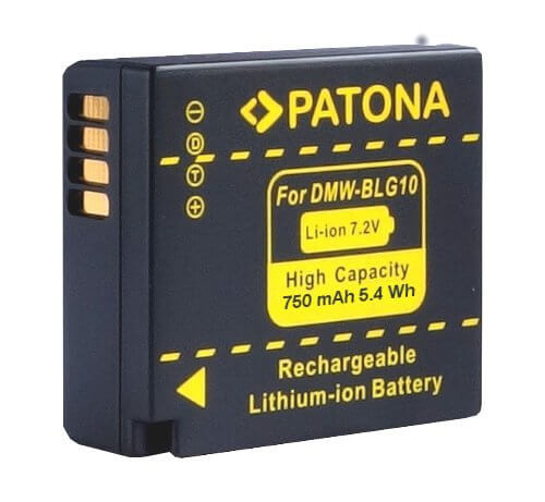 Patona Ersatz für Akku Panasonic DMW-BLG10 / Leica Akku BP-DC 15