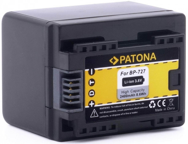 Patona Ersatz für Akku Canon BP-727
