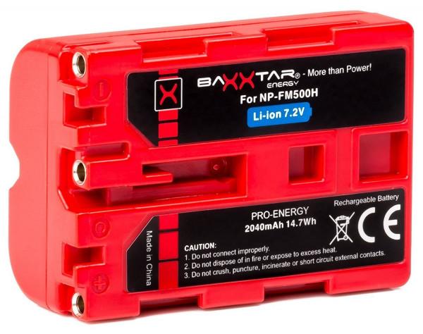 Baxxtar Ersatz für Akku Sony NP-FM500H