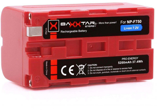 Baxxtar Ersatz für Akku Sony NP-F750