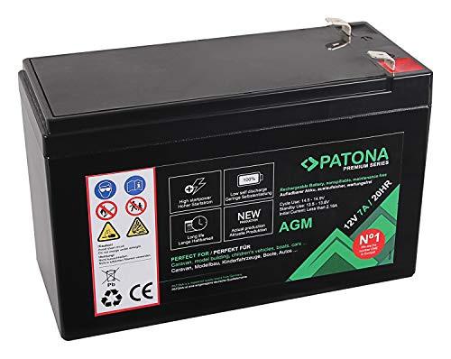 Patona Premium AGM 12V 7Ah Blei Batterie