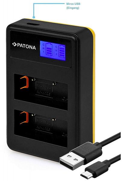 Patona Mini LCD Dualladegerät für Akku Fujifilm NP-W126