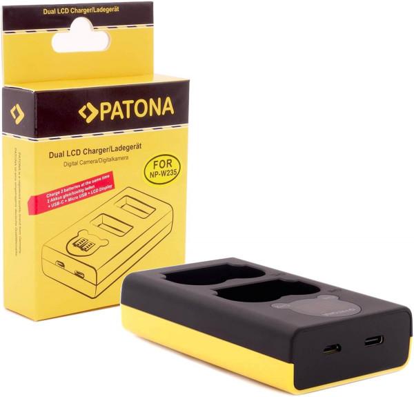 Patona Dual LCD Lader NP-W235