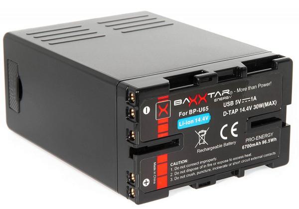 Baxxtar Ersatz für Akku Sony BP-U60 BP-U65 Black Series