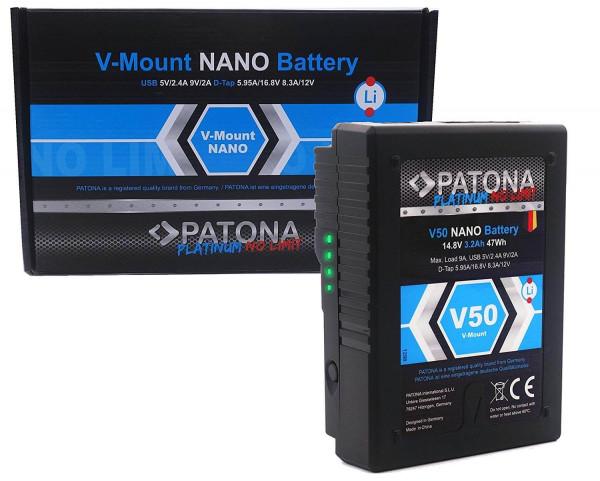 Patona V-Mount Akku - V50 Nano