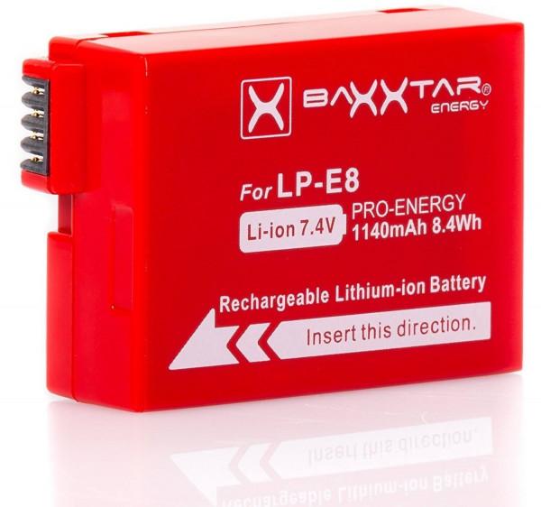 Baxxtar Ersatz für Akku Canon LP-E8