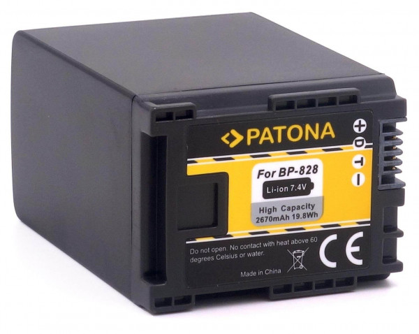 Patona Ersatz für Akku Canon BP-828