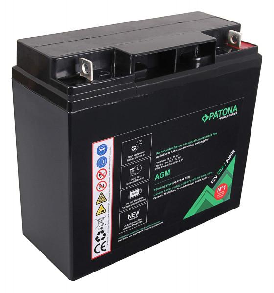 Patona Premium AGM 12V 20Ah Blei Batterie