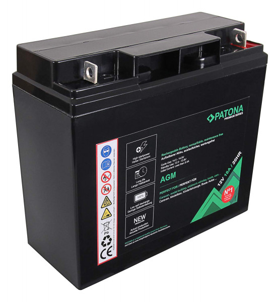 Patona Premium AGM 12V 18Ah Blei Batterie