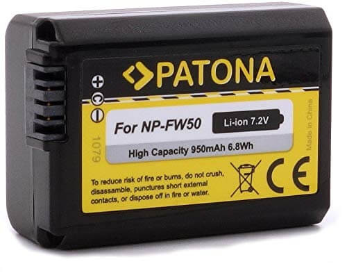 Patona Ersatz für Akku Sony NP-FW50