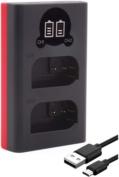 Baxxtar Dual-LCD-Ladegerät für Panasonic DMW-BLK22